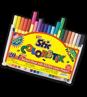 Stic Colourstix Sketch Pen 20 Colour Set Pack Id 5 Sets Sketch Pens Fibre Tip Pens Stic Swas Stationery